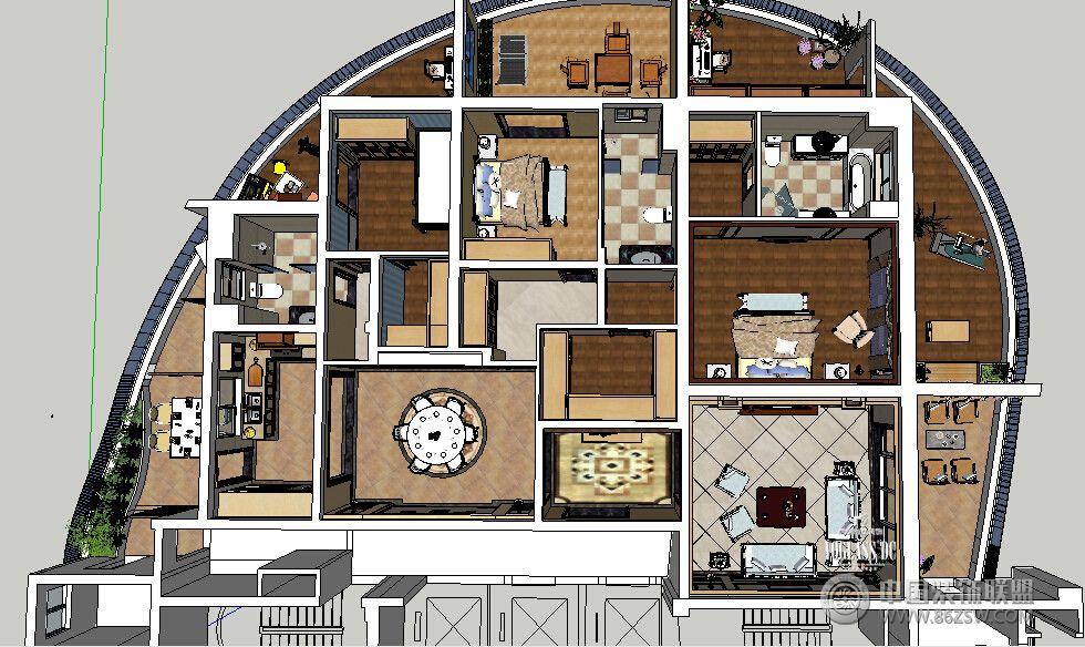 欧式风格阁楼装修效果图