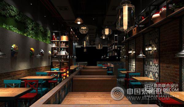 装修效果图 餐馆装修效果图 深圳烤鱼餐厅设计 有米烤鱼京基百纳店