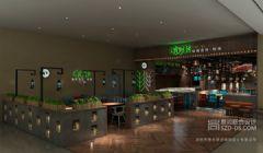 深圳烤鱼餐厅设计 有米烤鱼京基百纳店