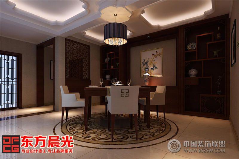 恬淡闲适现代中式别墅装修设计-餐厅装修效果图-八六