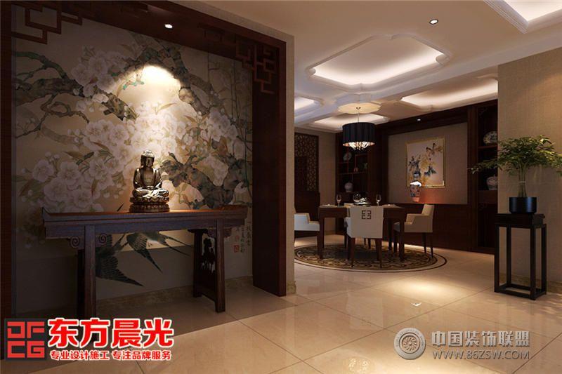 恬淡闲适现代中式别墅装修设计-客厅装修效果图-八六