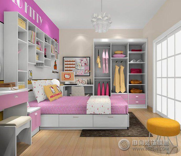最流行兒童房顏色搭配設計現代兒童房裝修圖片
