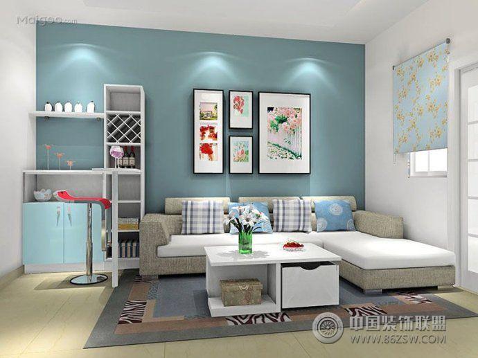 最新时尚吧台创意设计-客厅装修效果图-八六装饰网