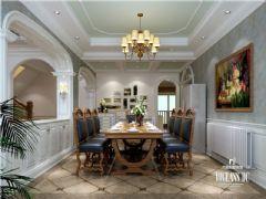 成都尚层装饰别墅装修鹭湖宫230平米简美风格案例美式风格别墅