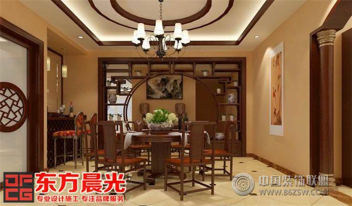 中式风格的高档别墅设计_酒店装修效果图_八六(中国)