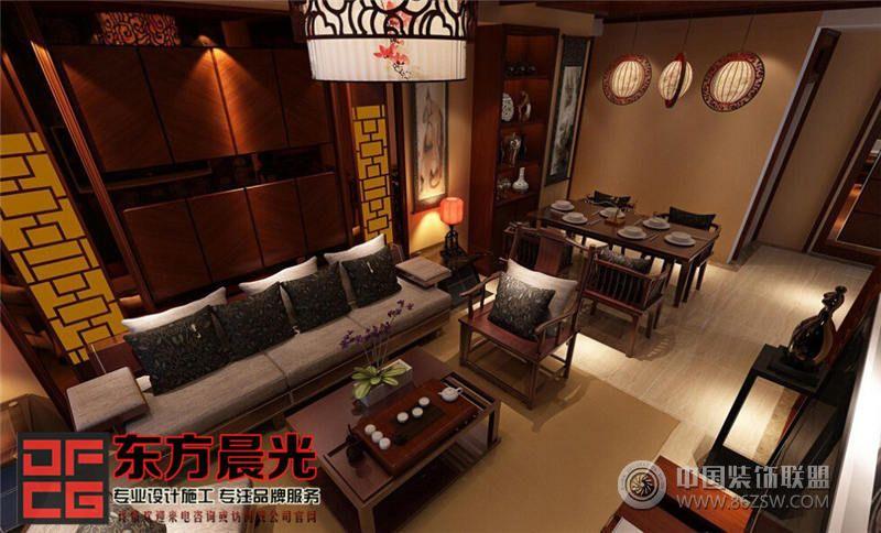 现代别墅设计中式设计风格酒店装修图片