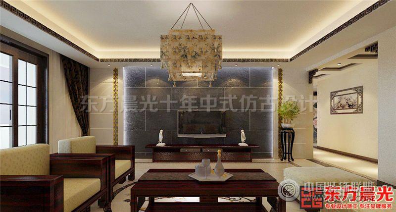 典雅新中式风格别墅设计效果图 酒店装修图片