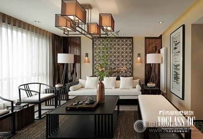 装修效果图 客厅装修效果图 武汉尚层装饰中国院子新中式风格方案展示