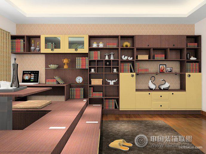 最新客厅兼书房创意设计客厅装修图片