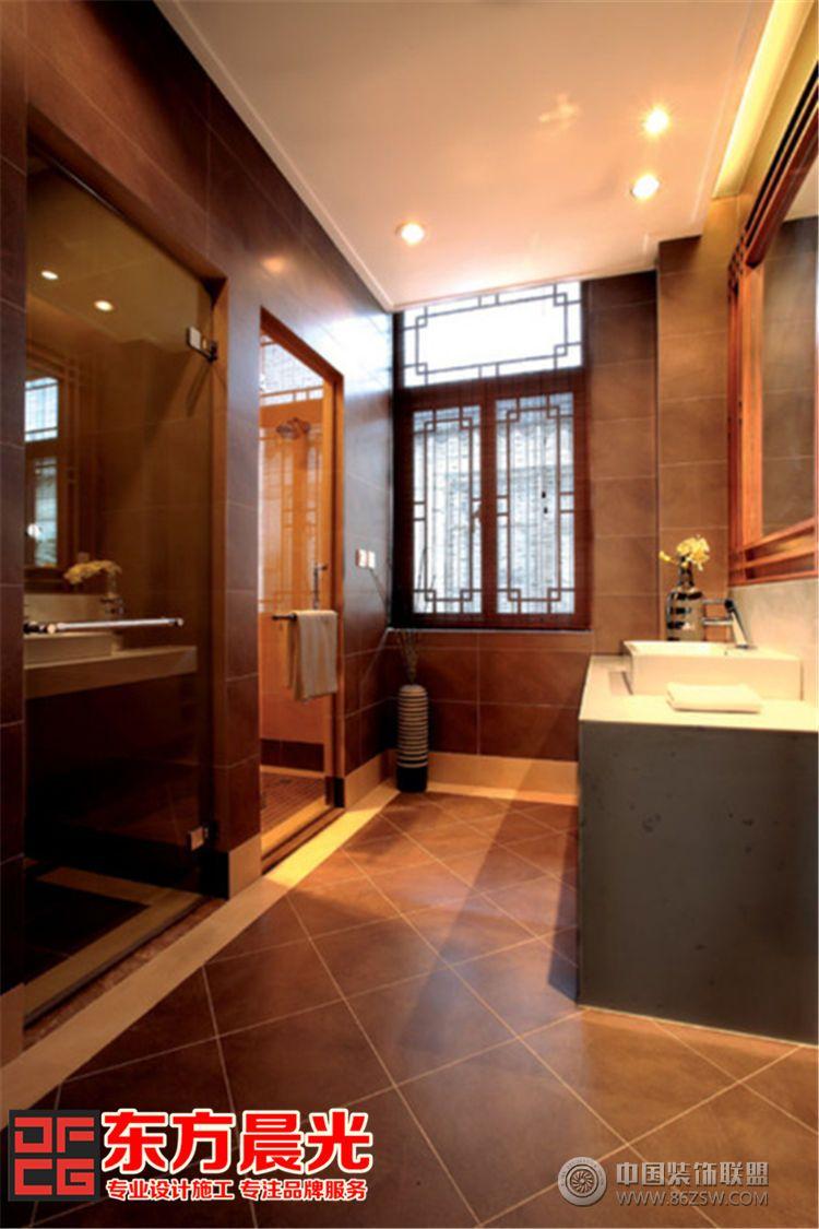 310平中式别墅装修设计实景图-卫生间装修图片
