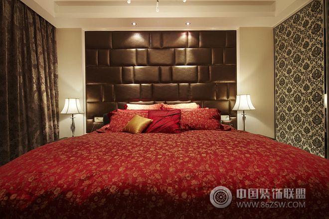 160平简约复式婚房-卧室装修图片图片