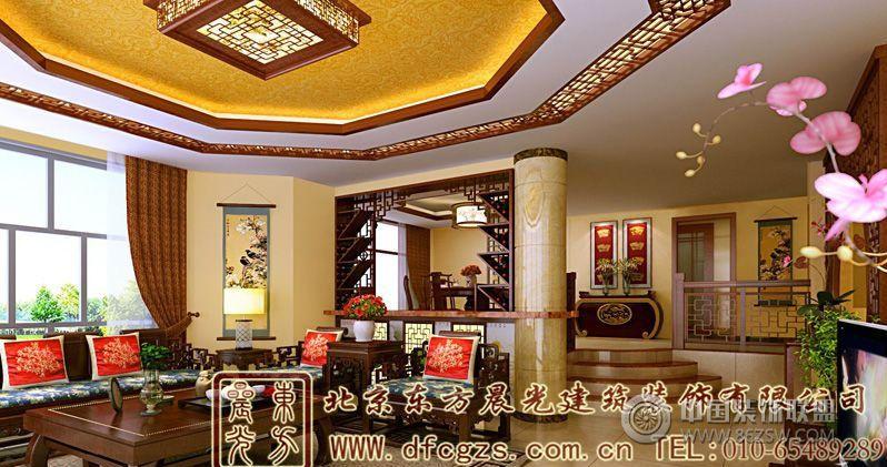 古典奢华优雅中式别墅设计酒店装修图片
