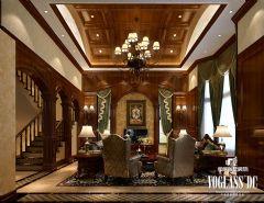 成都尚层装饰别墅装修龙湖长桥郡美式风格案例说明美式风格别墅