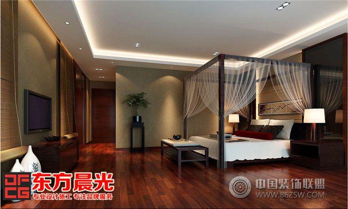 中式独栋别墅装修设计突显气派中式卧室装修图片