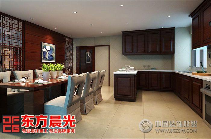 中式独栋别墅装修设计突显气派中式厨房装修图片