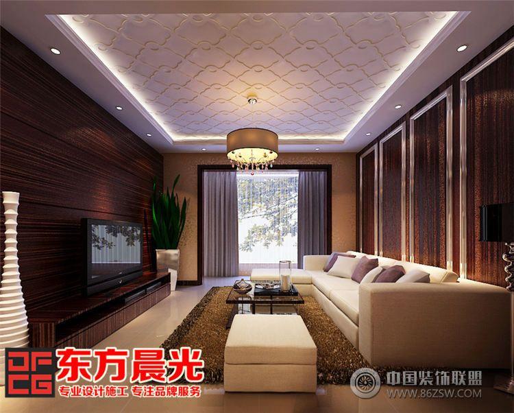 现代简约风格别墅装修设计 客厅装修效果图 八六 中国 装饰联盟装修效