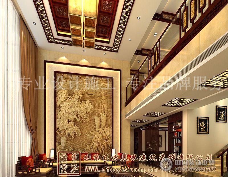装饰气氛中式别墅装修案例-酒店装修图片