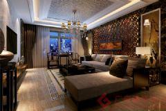 烟台广来装饰 科信佳园装修案例中式风格三居室