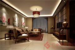 烟台广来装饰世嘉锦庭装修案例中式风格三居室
