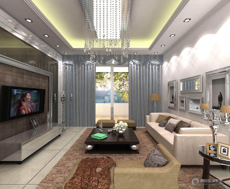 綠地二期現代客廳裝修圖片