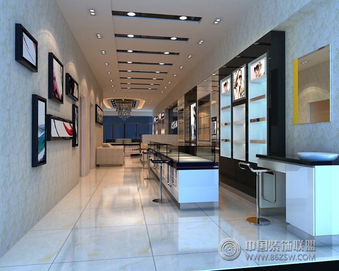 眼镜店装修效果图 单张展示 展厅装修效果图 八六 中国 装饰联盟装修效果图库
