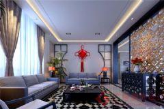 烟台广来装饰天颐郦城装修案例中式风格大户型