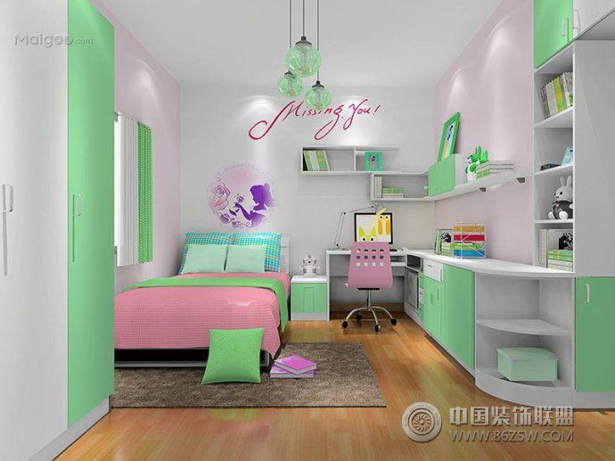2015儿童房榻榻米装修图片-卧室装修效果图-八六