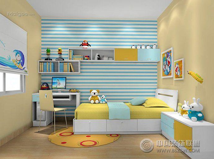 2015儿童房榻榻米装修图片-书房装修效果图-八六装饰