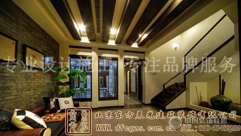 別墅室內,青磚古韻,樸素而具有優雅的現代時尚感.