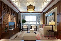 铂悦府装修案例——烟台广来装饰中式风格小户型