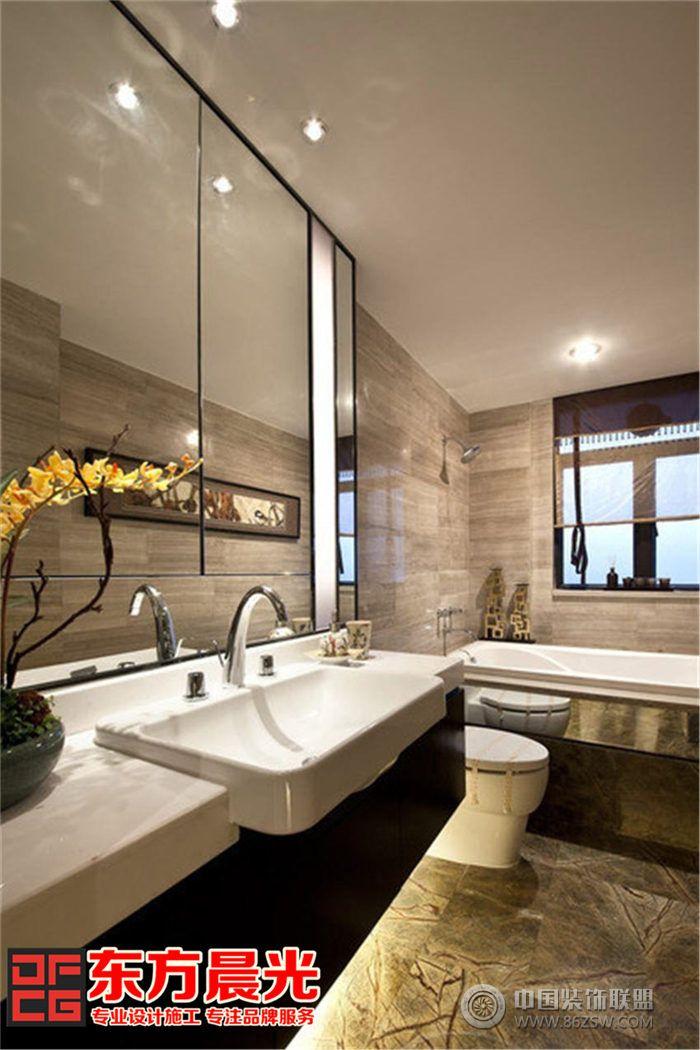 现代风格别墅中式装修设计客厅装修图片