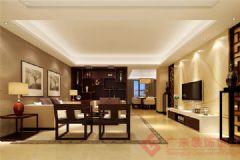 万科城装修案例——烟台广来装饰中式风格三居室