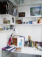 L型书柜布置与空间角落精美搭配