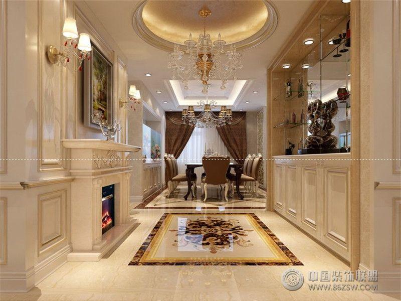 成都尚層裝飾別墅裝修法式宮廷風格案例欣賞(二)-客廳