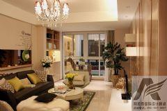温馨暖色现代家居现代风格三居室
