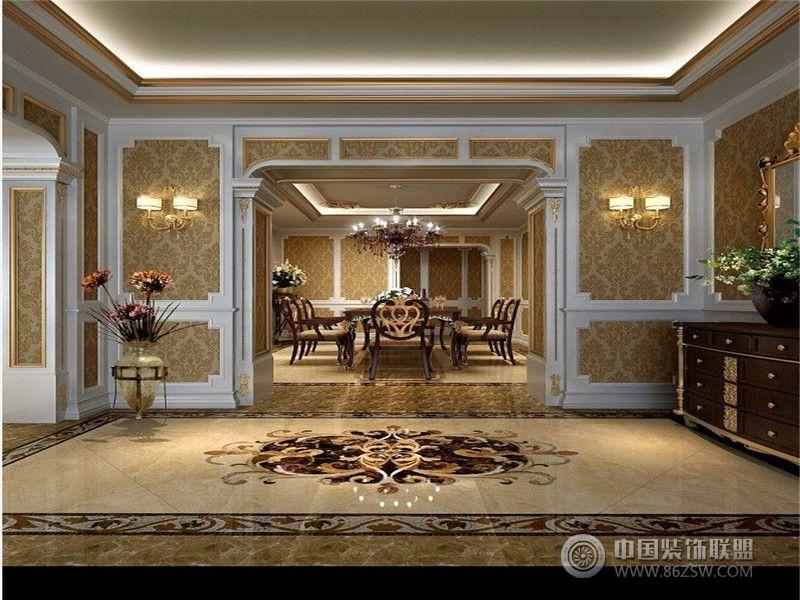 成都尚层装饰别墅装修奢华宫廷 法式风格 案例推