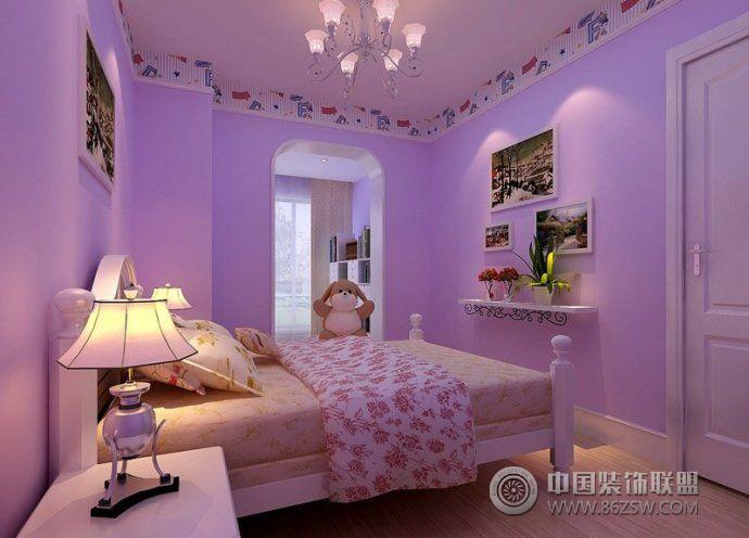 可爱舒适韩式儿童房设计书房装修图片