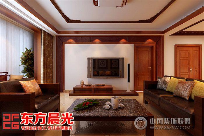 新中式风格家装别墅装修设计 餐厅装修效果图