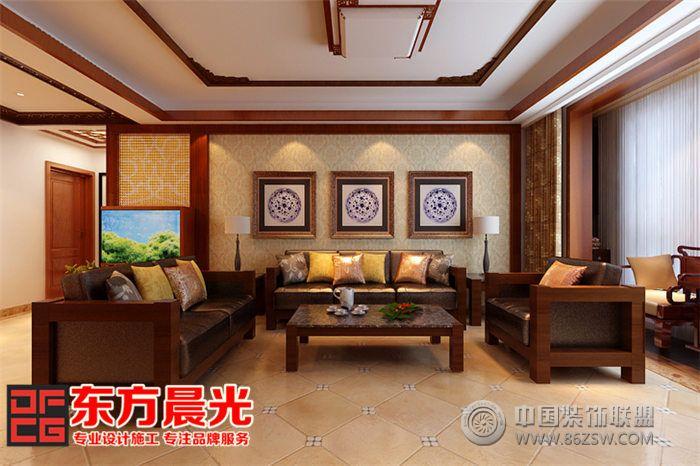 新中式風格家裝別墅裝修設計-餐廳裝修效果圖-八六網