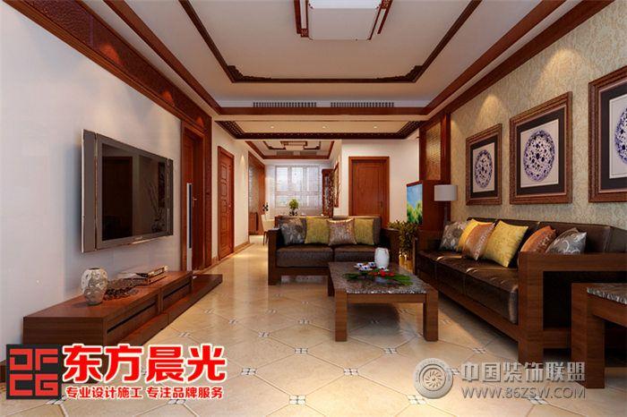 新中式有限别墅风格装修设计-北京东方晨光装饰别墅最适用家装图片