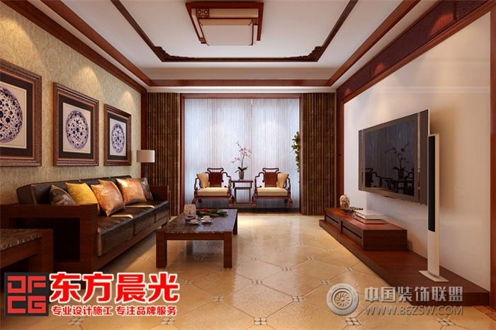 体现了新中式别墅装修设计兼具高端时尚的家居品味