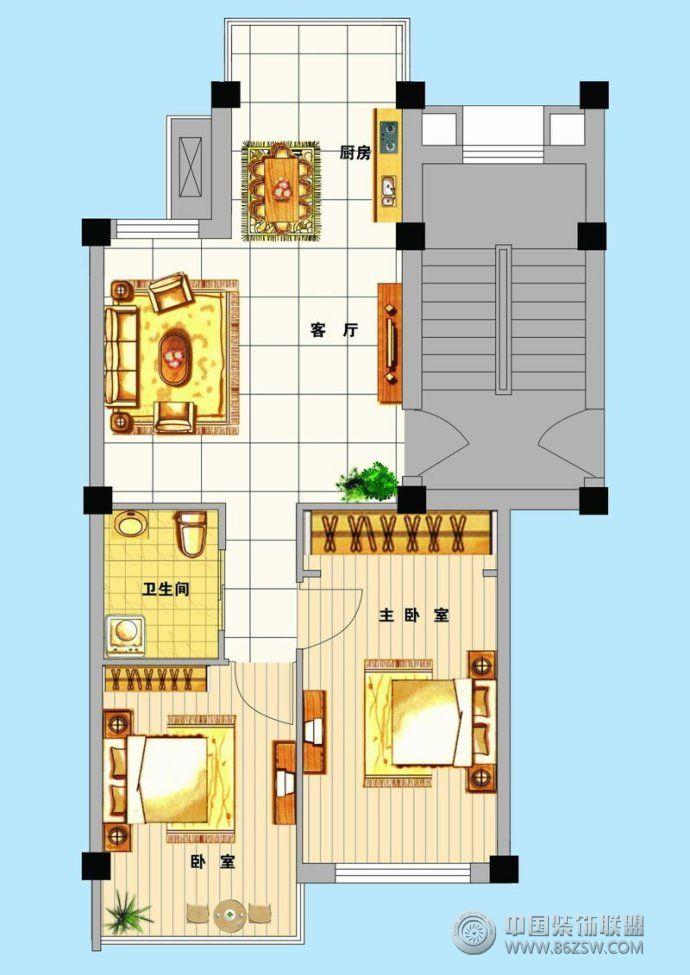 小豪宅小户型平面图   小户型平面图现代客厅装修图片   经