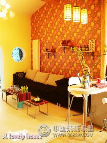 80平米独特风格小设计客厅装修图片