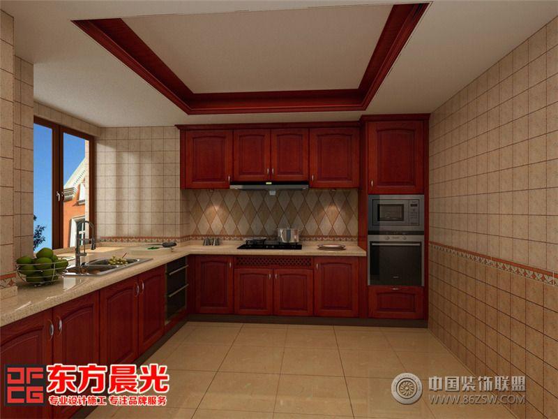 高贵典雅中式风格别墅装修设计中式厨房装修图片