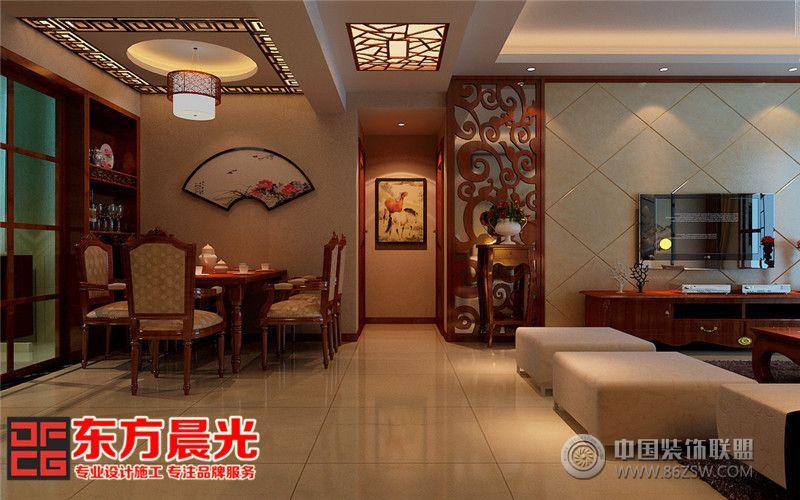 中式風格高端沉穩別墅裝修設計中式客廳裝修圖片