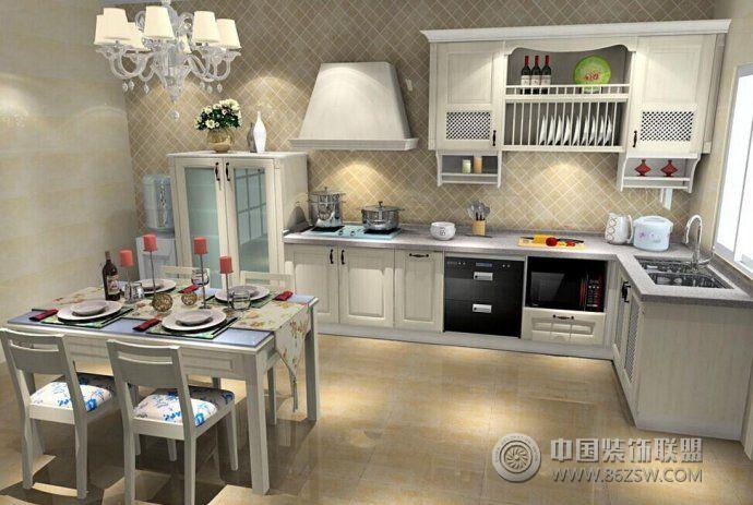2015时尚清新厨房设计现代厨房装修图片