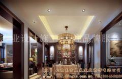 华丽简约的中式别墅装修案例