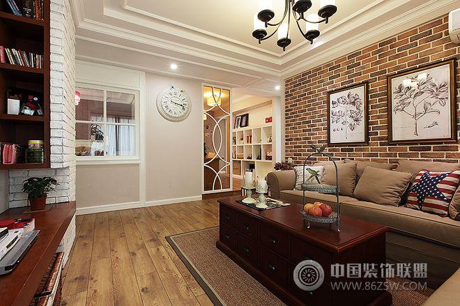 105平简欧风格婚房简约风格客厅装修效果图