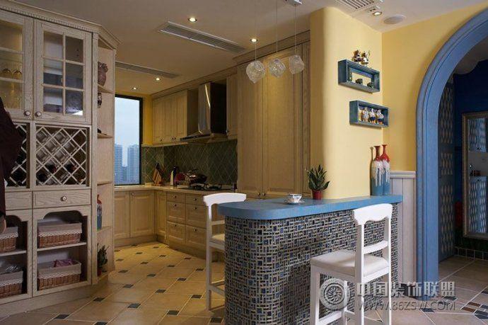 时尚设计让厨房从此潮起来整套大图展示_现代大户型装修效果图_八六(中国)装饰联盟装修效果图库(86zsw.com)