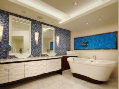 温馨又浪漫卫生间洁具搭配设计